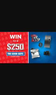 Channel 9 – Today Show – Win 1 of 4 $250 Good Guys Gift Vouchers