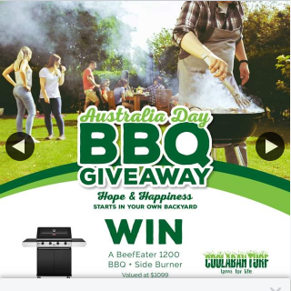 Coolabah Turf – Win a Beefeater 1200 Bbq Side Burner Valued at $1099