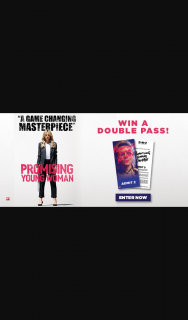 Dendy Cinemas – Win One of Five Promising Young Woman Double Passes (prize valued at $200)
