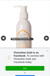 Florentine Gold – Win a 200ml Natural Harmony Body and Joint Rub