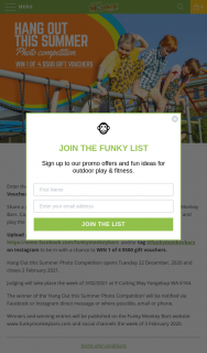 Funky Monkey Bars – Win 1 of 4 $500 Gift Vouchers (prize valued at $2,000)