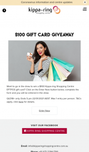 Kippa-Ring Shopping Centre – Win a $100 Kippa-Ring Shopping Centre Eftpos Gift Card (prize valued at $100)
