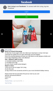 Koh Living – Win One of Three Back to School Packs