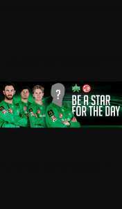 MG BBL Melbourne Stars – Win The Ultimate Mcg Playing Experience With Mg and The Melbourne Stars on February 9 2021.