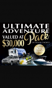 My Money House – Win $30000 Towards The Purchase of an Adventure Pack (car (prize valued at $30,000)