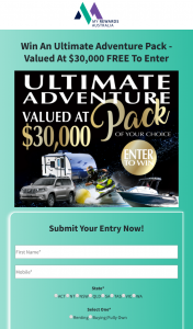 My Rewards Australia – Win an Ultimate Adventure Pack (prize valued at $30,000)