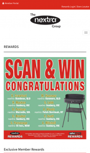 Nextra Group Rewards – 'win a $50 Voucher Each Week With Nextratm Group Rewards' (prize valued at $13,000)