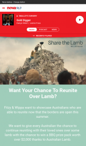 Nova FM – Win a Bbq Prize Pack Worth Over $2000 Thanks to Australian Lamb (prize valued at $2,000)