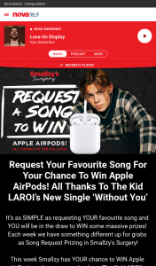 Nova FM – Win Apple Airpods (prize valued at $249)