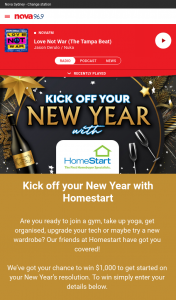Nova 93.7 – Win $1000 to Get Started on Your New Year's Resolution