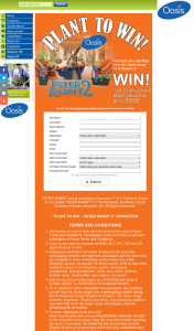 Oasis Horticulture – Win The Major Prize (prize valued at $13,000)