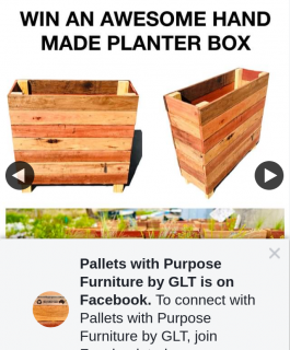 Pallets With Purpose Furniture by GLT – Win One of Our Awesome Handmade Apartment Planter Boxes