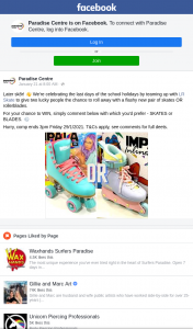Paradise Centre – Win a Pair of Roller Skates Or Blades (prize valued at $349.98)
