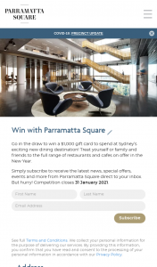 Parramatta Square – Win a $1000 Gift Card to Spend at Sydney's Exciting New Dining Destination