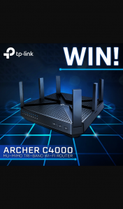 PC Case Gear – Win a Tp-Link Archer C4000 Tri-Band Wifi Router (prize valued at $279)