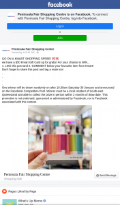 Peninsula Fair Shopping Centre – Win a $50 Kmart Gift Card