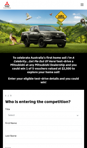 10play-Mitsubishi Motors – Win 1 of 5 Vouchers Valued at $2500 to Explore Your Home Soil (prize valued at $2,500)