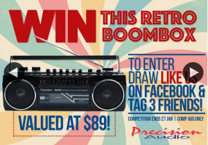Precision Audio Australia – Win this Retro Boombox Worth $89 (prize valued at $89)