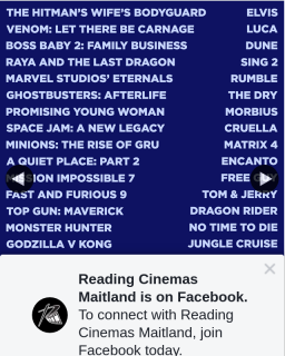 Reading Cinemas Maitland – Win a Double Pass to Any Movie In 2021