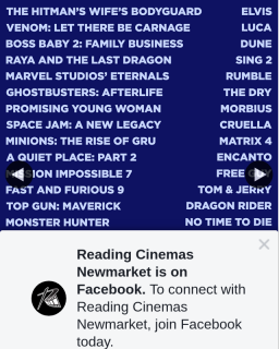 Reading Cinemas Newmarket – Win a Double Pass to Any Movie In 2021