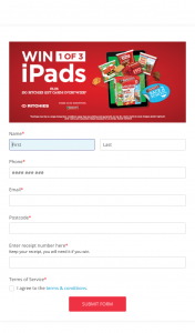 Ritchies – Purchase 2 x Arnott's Multipacks & – Win a $50 Ritchies (prize valued at $2,747)
