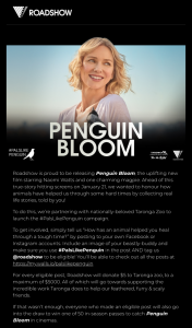 Roadshow – Win One of 50 In-Season Passes to Catch Penguin Bloom In Cinema