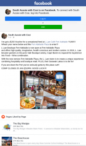 South Aussie With Cosi – Win a $50 Voucher to Llaw Cafe Port Adelaide