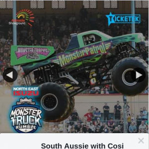 South Aussie With Cosi – Win Four Family Passes to Monster Truck Rumble