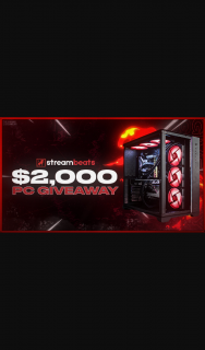 Steambeats – Win a $2000 Pc Or $1500 Cash/closes 21/1/21 (prize valued at $2,000)