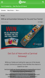 Ten Play – Win In this Competition (excluding Sa Residents Who Are Eligible to Win (prize valued at $11,392)