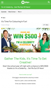 Ten Play – Win $500 Thanks to I'm a Celebrity… Get Me Out of Here