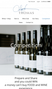 Thomas Wines – Win a 4 Person Dining Experience at Yellow Billy With an Exclusive Private Tasting With Winemaker Andrew Thomas (prize valued at $750)