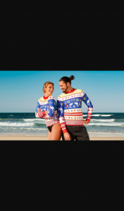 Triple M – Win One of Five Ugly Xmas Rashie Packs for Your Family's Next Beach Holiday