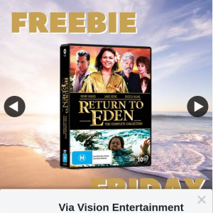Via Vision Entertainment – Win a Copy of Return to Eden Complete Collection DVD