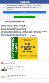 Walkerville Terrace Shopping Centre – Win $100 Sa Gourmet Meats Voucher (prize valued at $100)