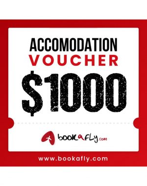 Bookafly – Win a $1,000 accommodation voucher