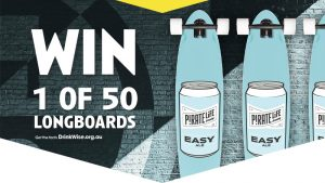CUB – Bottlemart – Win 1 of 50 Pirate Life Longboards valued at $200 each