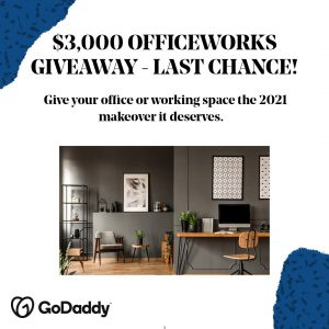 GoDaddy – Win a $3,000 Officeworks voucher