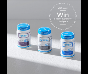 Life Space – Win a year's supply of Life-Space Probiotics (15 prizes to be won)
