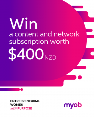 MYOB – Win 1 of 20 memberships which provide access to Entrepreneurial Women with Purpose
