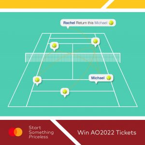 Mastercard – Win 2 Category 1 tickets to the 2022 AO Semi-Final
