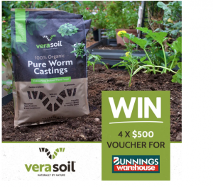 Verasoil – Win 1 of 4 Bunnings vouchers valued at $500 each