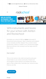 AMEB Ltdwin musical instruments and prizes packs for your school – Win an Ashton Instrument & Rockschool Prize Pack (prize valued at $2,100)