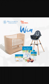 Bellamys Organic – TheMemo – Win a Leander Cot & Childhome Evolu 2 High Chair From The Memo Bellamy's Organic Food Hamper (prize valued at $1,930)