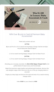 Ben & Ellie Baby – Win a $1500 Baby Prize Pack (prize valued at $1,500)