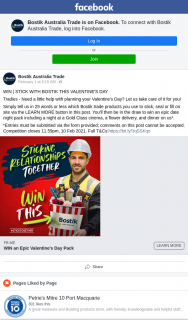 Bostik Australia Trade – Win | Stick With Bostik this Valentine's Day (prize valued at $159)