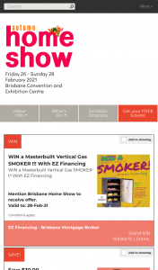 Brisbane Home Show – Visit stands to – Win a Masterbuilt Vertical Gas Smoker