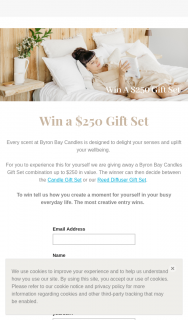 Byron Bay Candles – Win a $250 Gift Set (prize valued at $250)