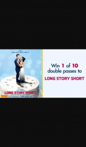 Channel 7 – Sunrise – Win a Double Pass to New Romantic Comedy Long Story Short