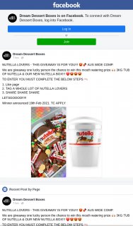 Dream Dessert Boxes – Win this Mouth Watering Prize 3kg Tub of Nutella & Our New Nutella Box